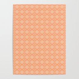 Peach Pattern Design Poster