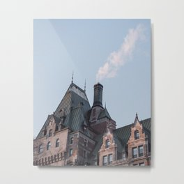 Quebec City: Fairmont le chateau frontenac Metal Print