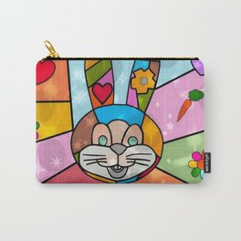 Funny Bunny Popart by Nico Bielow Carry-All Pouch