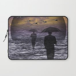 Walking into a Sea of Change Laptop Sleeve