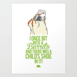 Burrito Shoe Art Print