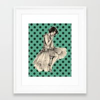 pinup Framed Art Prints featuring Pinup by Jemma Cakebread