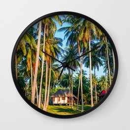 Tropic village Wall Clock