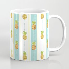 Vintage Glitter Pineapples Coffee Mug