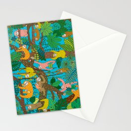 Happy Sloths Jungle Stationery Cards