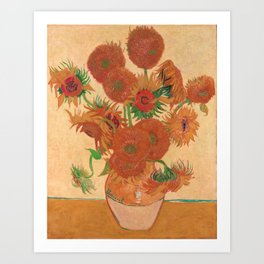 Vase with Fourteen Sunflowers by Vincent van Gogh Art Print