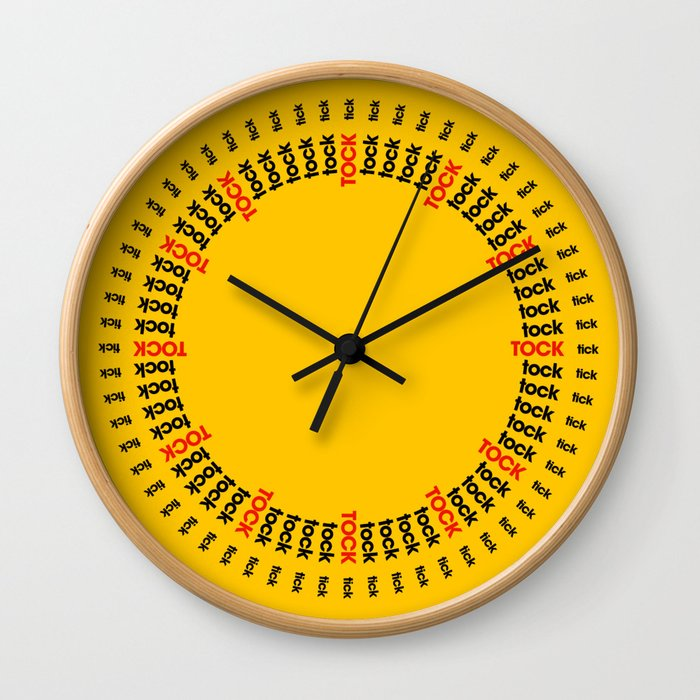 Tick Tock - Sun Wall Clock