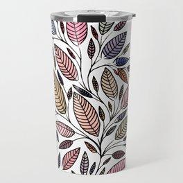Floral Leaf Illustration *P07008 Travel Mug