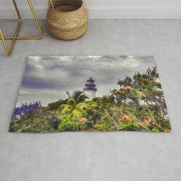 Key West Lighthouse - Digital Photo Painting Rug