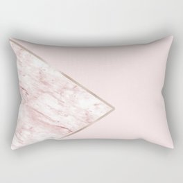 Blush pink geo - pink marble Rectangular Pillow