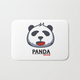PANDA HELLO WORLD funny design Bath Mat