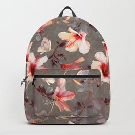 Coral Hibiscus Backpack