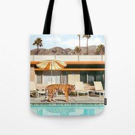 Pool Party Tiger Tote Bag