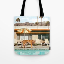 Pool Party Tiger Tote Bag
