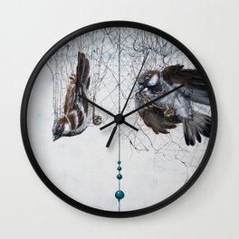 Caught in a net - detail Wall Clock