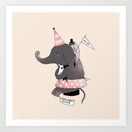 Circus is not funny for animals Art Print