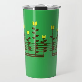 Music notes garden Travel Mug