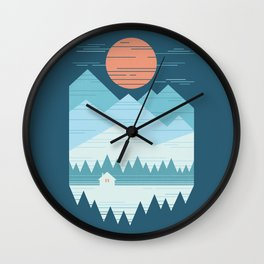 Cabin In The Snow Wall Clock