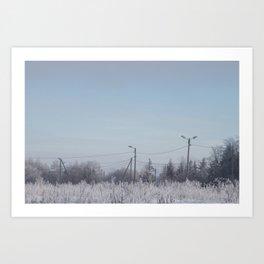 Zone in Winter Art Print