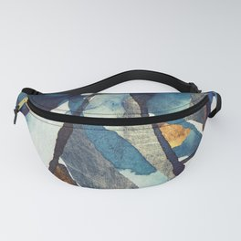 Cobalt Abstract Fanny Pack