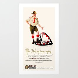 Zom-B-Vex Scout Master Art Print