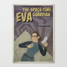 Eva The Space-Time Guardian  Canvas Print