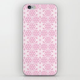 Stars and Hexagons Pattern - Pearly Pink iPhone Skin