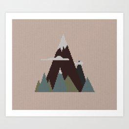 Misty Mountain Knit Art Print