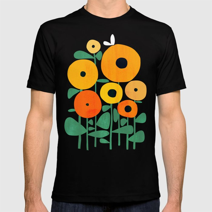 Sunflower And Bee T Shirt by Society6