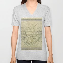 A Celestial Planisphere or Map of The Heavens Unisex V-Neck