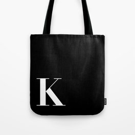 Initial K Tote Bag