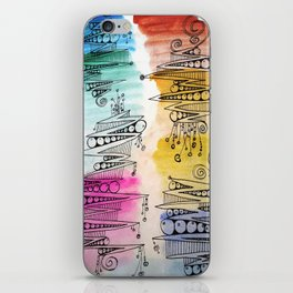 Colorful Zip Line Pattern iPhone Skin