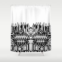 geo Shower Curtains featuring Geo by Eva Bellanger
