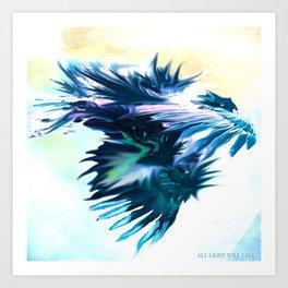 Blue Dragon Dances Art Print