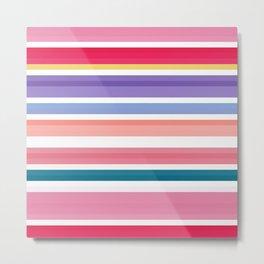 nice stripes pink Metal Print