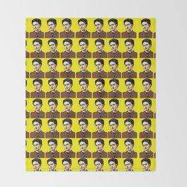 Frida Kahlo Pop Art Throw Blanket