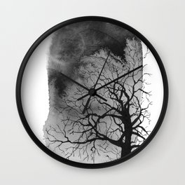 Ink trees 01 Wall Clock