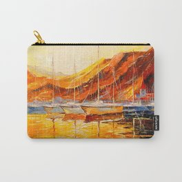 Golden sunset at the mountains Carry-All Pouch