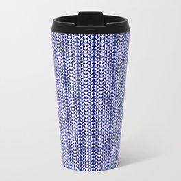 Blue Folk Art Travel Mug