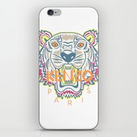 kenzo iPhone & iPod Skins featuring KENZO Tiger by cvrcak