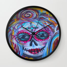 Momma Sugar Skull  Wall Clock