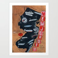 new jersey Art Prints featuring NEW JERSEY by Christiane Engel