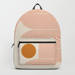 Abstraction_SUN_LINE_ART_Minimalism_002 Backpack