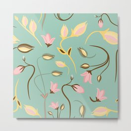 seamless summer tiny floral pattern Metal Print