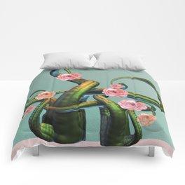 Tentacle Rose Mystic Garden Comforters