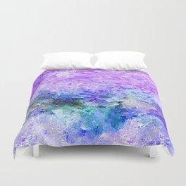 Lavender Purple Deep Blue Pattern Design Duvet Cover