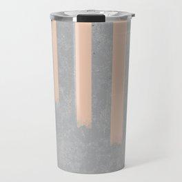 Blush stripes on concrete Travel Mug