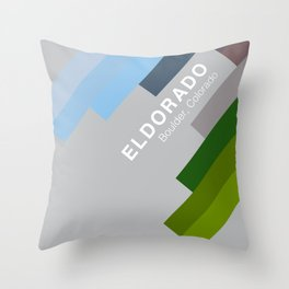 The colors of climbing spots - ELDORADO CANYON Throw Pillow