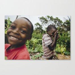 Shy Kids, Mozambique Canvas Print