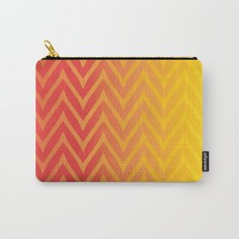 Warm Chevron Carry-All Pouch